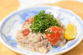 健康レシピ 2 サバとトマトの胡麻和え