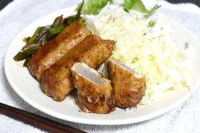 健康レシピ 9 肉巻こんにゃくの生姜焼き