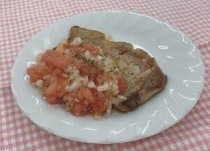 健康レシピ43 ポークソテー ~トマトソースがけ~ の作り方